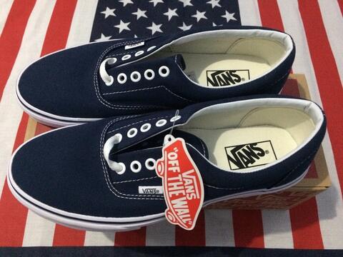 Sepatu Vans Era Navy Original not Nike Adidas Fila Asics Puma Reebok New Balance