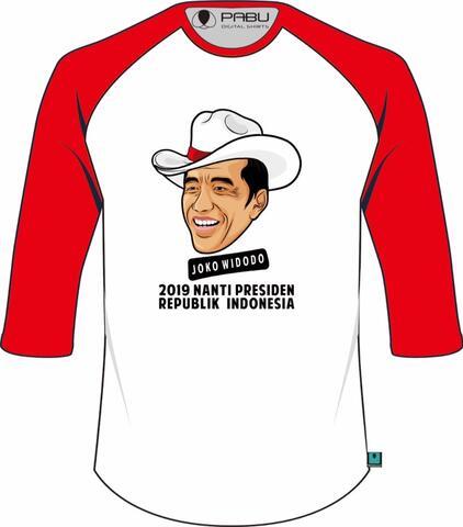 Kaos Jokowi 2019NP versi topi koboy