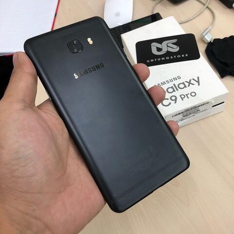 UNTUNG STORE >> Samsung Galaxy C9 Pro Ram 6gb Black SEIN Mulus Fullset Normal Gan