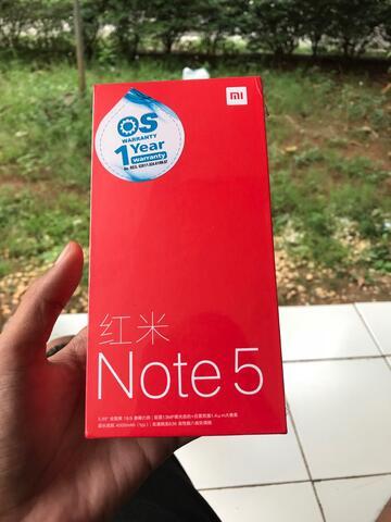xiaomi redmi note 5 (pro) ram 6gb rom 64gb 6/64 black garansi dist new BNIB