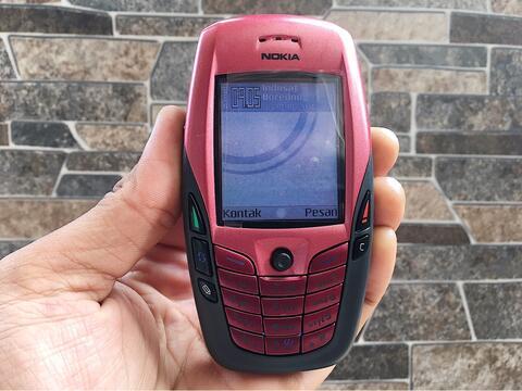 Nokia 6600 Merah Normal Hp Jadul Kamera Klasik Handphone Nostalgia