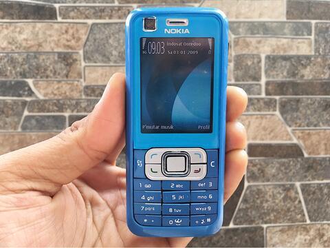 Nokia 6120c Biru Normal Hp Jadul Klasik Dual Kamera Handphone Nostalgia