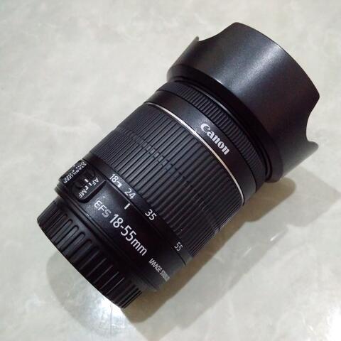 [CAKIM] WTS lensa Canon EF-S 18-55mm IS STM like new bonus filter dan hood