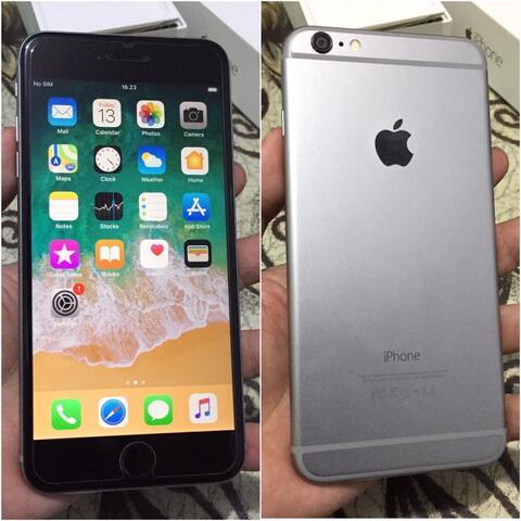 iPhone 6+ Plus 64Gb Space Grey Fullset Mulus Bisa tt