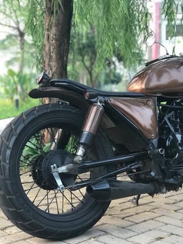 motor scorpio scrambler custom