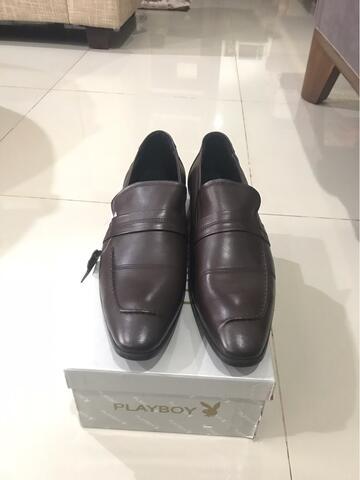 Sepatu Kerja Pantofel Cokelat Merk Playboy Dress Dark Brown Baru Original 16a480e654