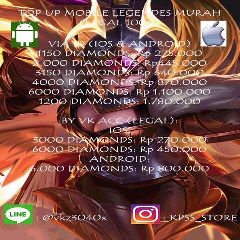 Terjual Trusted Jual Diamond Mobile Legend Skin Murah Kaskus