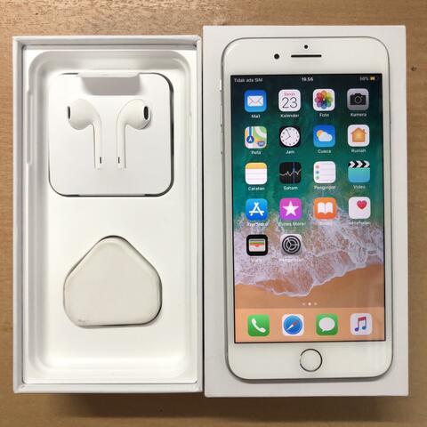 iPhone 8 Plus 64GB Silver Super Muluss Garansi inter singapore ZP