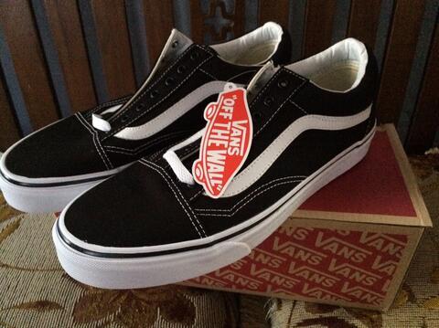 Vans Old Skool Canvas Black White Original not nike adidas puma reebok asics thrasher