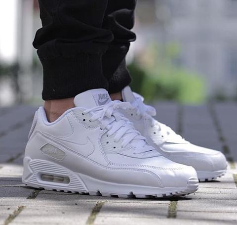 "big sale 0c30b cdada Nike Air Max 90 "" All White """