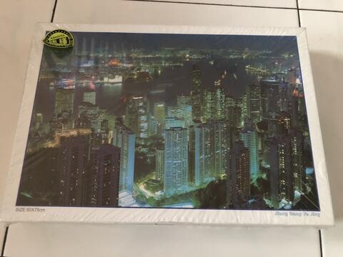 Puzzle 1000pcs gedung malam hari