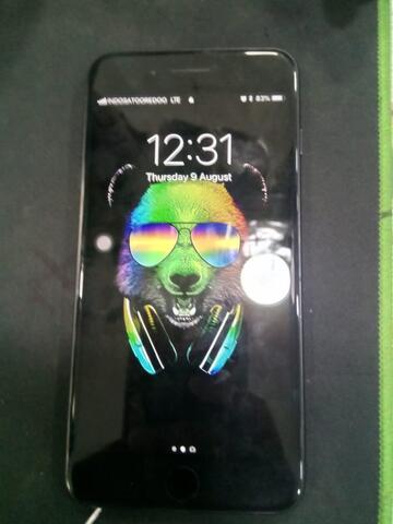 iphone 7 plus 32gb blackmatte fullset mulus