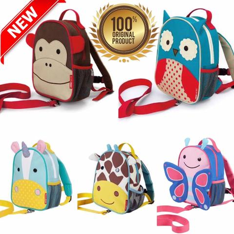 Tas Anak Skip Hop Zoo-Let Mini Backpack with Rein - ORIGINAL