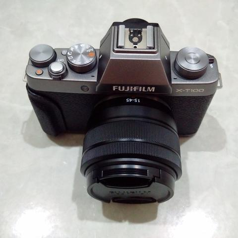 [CAKIM] WTS Fuji Fujifilm X-T100 kit 15-45mm OIS PZ like new garansi juni 2019