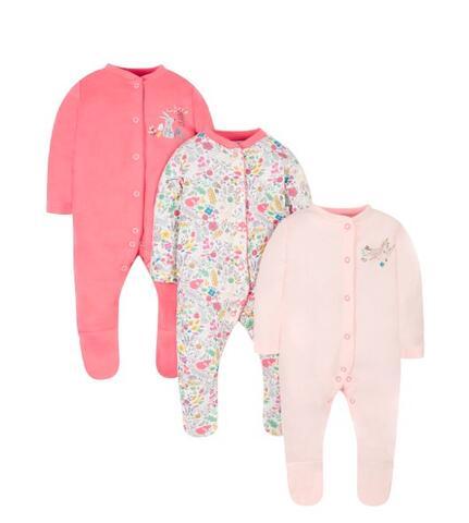 Mothercare | 3 Sleepsuit Bayi 3-6 Bulan