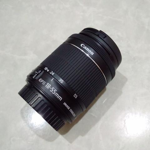 [CAKIM] WTS lensa Canon EF-S 18-55mm IS STM like new bonus filter