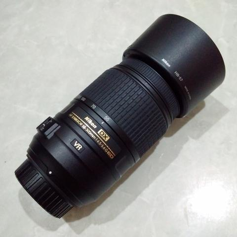 [CAKIM] WTS lensa Nikon AF-S 55-300mm VR like new bonus filter