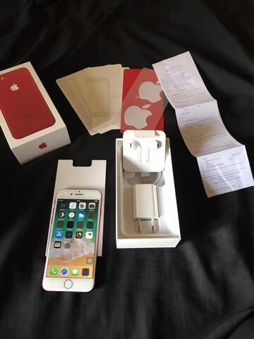 iphone 7 256gb red edition garansi resmi ibox masih panjang