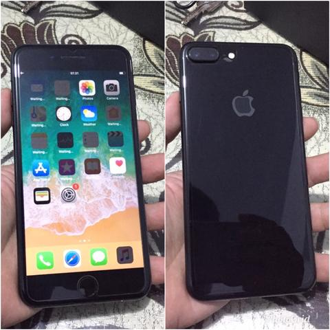 iPhone 7+ Plus 256Gb Jet Black Fullset Mulus Bisa tt