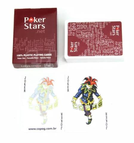 Playing Cards - Kartu Remi - Plastic foil poker Poker Stars - Red