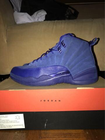 Jordan 12 Blue Suede Sz 46