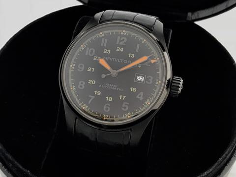 ORIGINAL HAMILTON KHAKI FIELD BLACK PVD AUTOMATIC 44MM