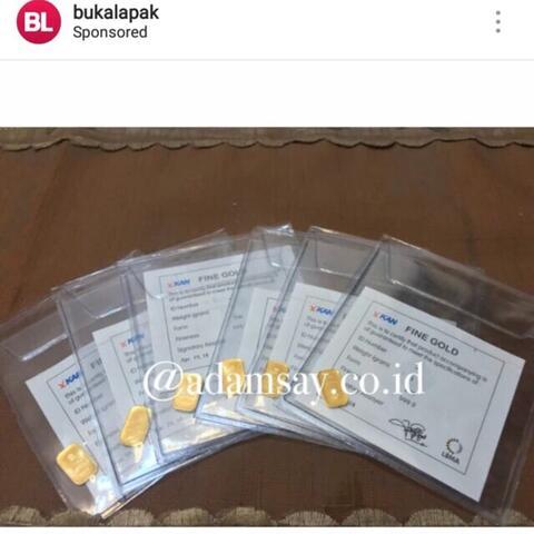 emas antam 3gr dan sertifikat asli fine gold 99.9%
