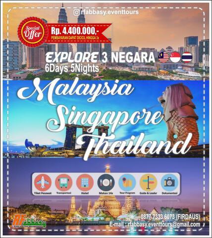 OPENTRIP TOUR 3 NEGARA ASEAN