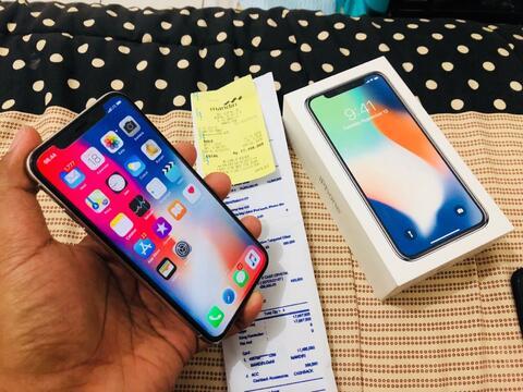 Terjual Apple Iphone X 64gb Silver Resmi Ibox Maret 2019 S9 Plus