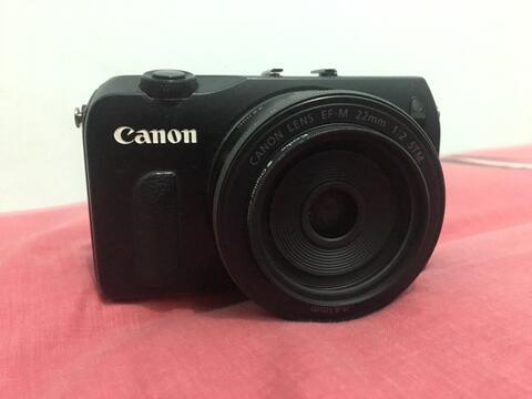 Canon Eos M Lensa EF-M 22mm F/2 stm bukan fuji sony leica