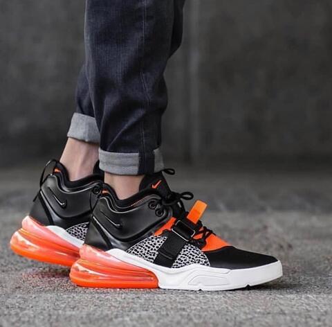 """Jual Nike Air Force 270 Pack """"Black Orange""""  c8b2bb907"""