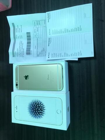 Iphone 6 32gb gold like new (garansi resmi ibox masih panjang)