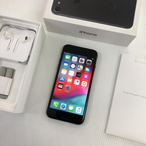 iPhone 7 32GB Black Matte Mulus fullset Original ex inter