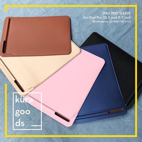 iPad Pro 9.7 dan 10.5 Inch PU Leather Slim Sleeve Case Pouch Sarung Bag Apple Pencil