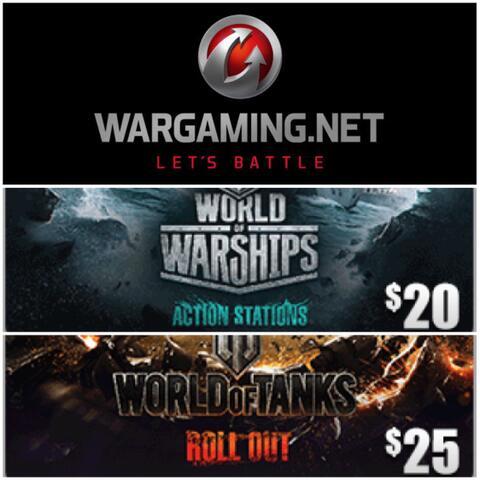 Wargaming $20 $25 [Digital Code] - ibanezblack store