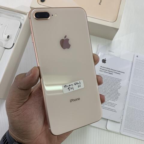 iPhone 8 Plus 64GB Gold Good Condition Muluss Garansi iBox