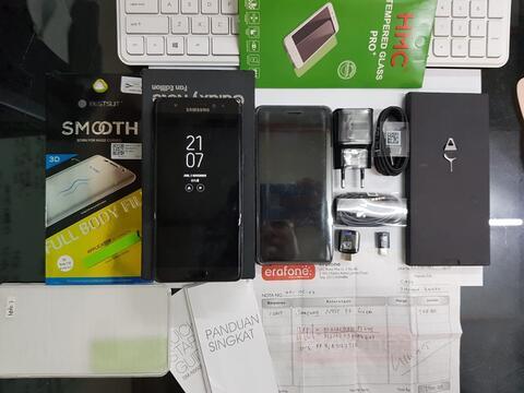Samsung Note FE Black Garansi SEIN aktif sampai maret 2019