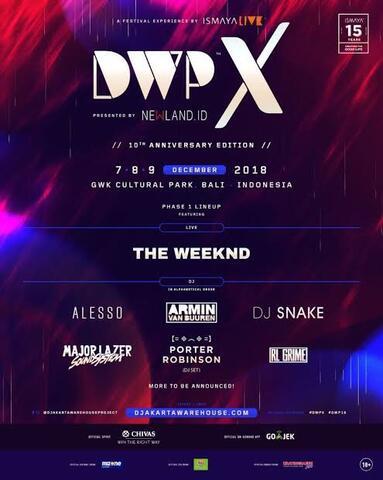 Tiket Wristband DWP X DWP-X 2018 3 DAY 3-DAYS PASS GA