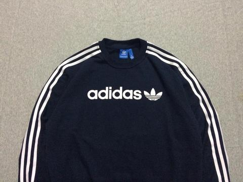 Crewneck Sweater Adidas Lineae Navy Size M dan L