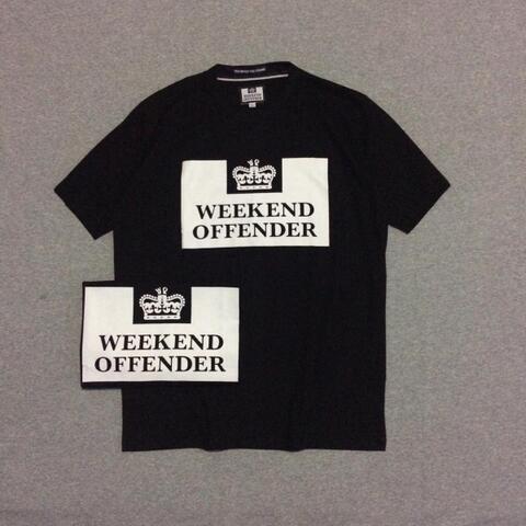 Kaos Weekend Offender Prison Black Size M dan L