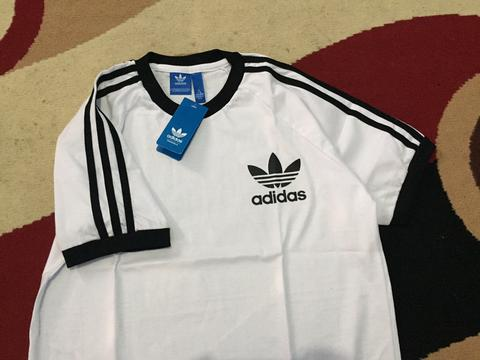 Kaos Adidas Retro CLFN White Size M dan L