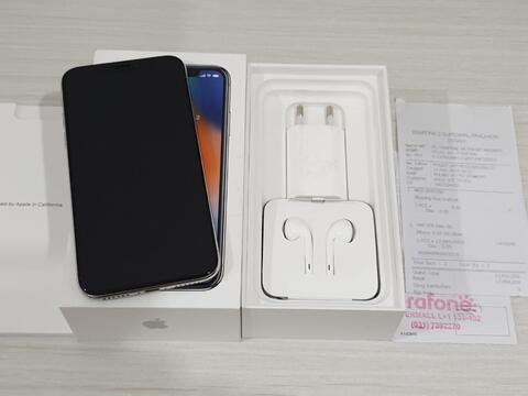 GPL  iPhone X 64Gb Silver Fullset all ori muluss maknyuss garansi resmi  iBox a7d03a12ab