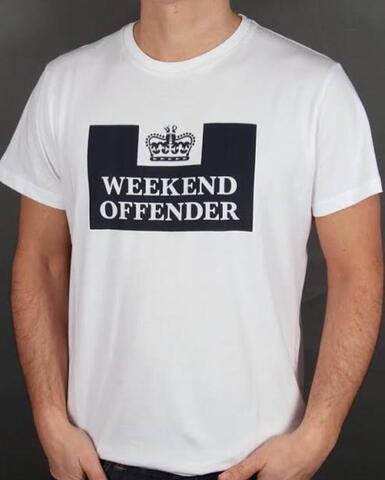 Kaos Weekend Offender Prison Putih Size M dan L
