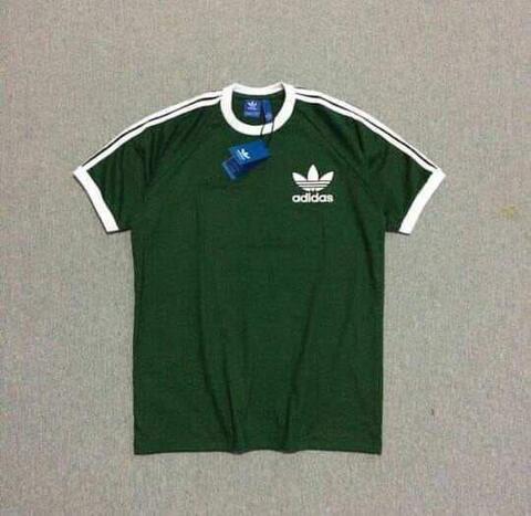 Kaos Adidas Retro CLFN Green Army Size M dan L