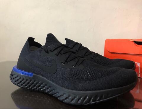 0194d903f9c7 Jual Nike Epic React Flyknit Triple Black Original