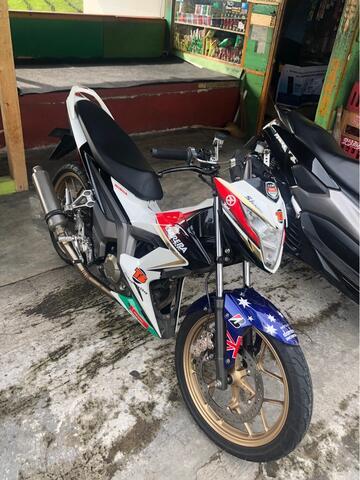 Oplos / Tukar Tambah Body Airbrush Honda Sonic 150R