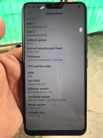 Vivo V9 Black RAM 4GB ROM 64GB Garansi Indo 4 bulanan lengkap mulus