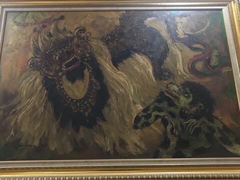 lukisan Tatang ganar Th84 (T90cm x L120cm)