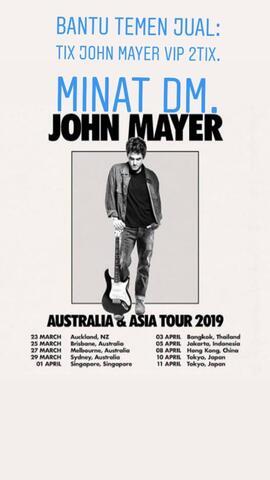 Tiket John Mayer Ice Bsd