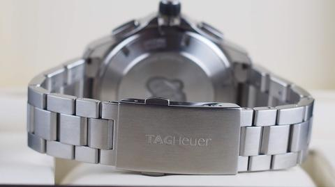TAG HEUER AQUARACER 500M CHRONOGRAPH AUTOMATIC CERAMIC BEZEL STEEL 43MM